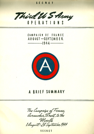 Description: ummary of Operations France 3rd Army WWII