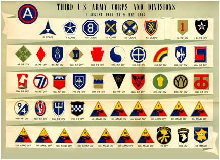 Description: ttp://pattonthirdarmy.com/3rdarmysummaries/3rd%20Army%20patches.jpg